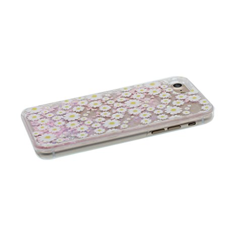 "iPhone 7 Hülle, Lilie Lily harte freie Handyhülle iPhone 7, Glitter Bling Transparent Hard Clear funkelt Shinny fließend, Apple iPhone 7 Case Cover 4.7"", Schock-bestän und Staubstecker Gänseblümchen"