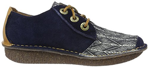 Clarks Funny Dream, Derby Femme Bleu (Navy Interest)