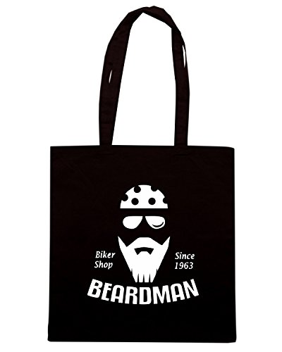 T-Shirtshock - Borsa Shopping TB0410 set of vintage motorcycle labels elements Nero