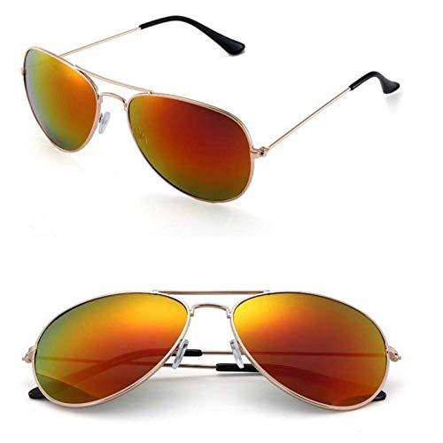 YHEGV Klassische Luftfahrt Sonnenbrille Männer Sonnenbrille Frauen Fahrspiegel Männliche und weibliche Sonnenbrille Punkte Pilot Oculos De Sol