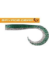 Savage Gear Sandeel Curtails Baby Mack - Gummifisch zum Meeresangeln, Gummiköder zum Spinnfischen, Jig für Zander, Barsch & Dorsch