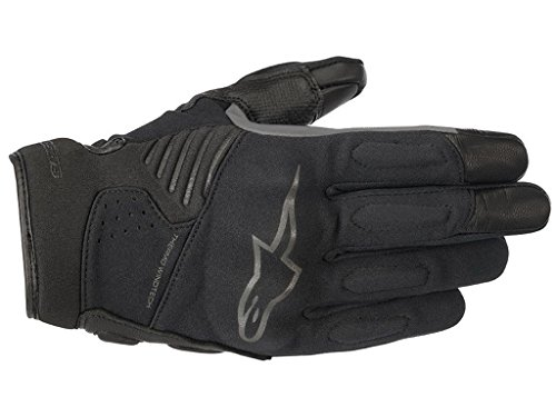 Alpinestars Handschuhe Faster, schwarz-schwarz, XXL (Alpinestars Leder Race)