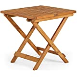VonHaus Adirondack Side Table   Garden/Patio/Conservatory Wooden Outdoor Folding Side/Snack Table   Ideal for Hardwood Decking
