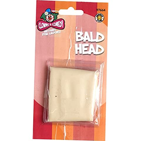 SMIFFYS Bald, Skin Head - Bald Head Costume