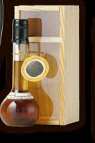 spiritueux armagnac a la truffe carafon 20cl presente en coffret bois louis roque
