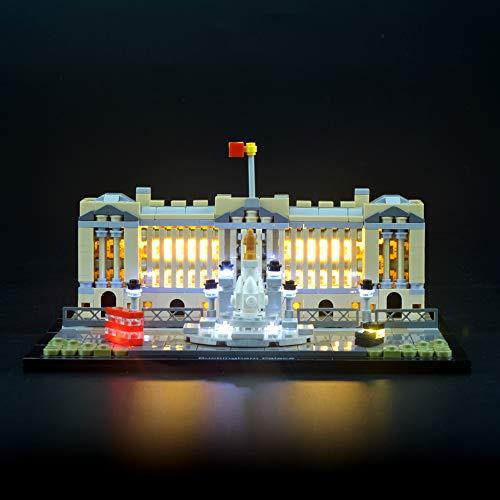 LIGHTAILING Conjunto de Luces (Palacio de Buckingham) Modelo de Construcción de Bloques - Kit de luz LED Compatible con Lego 21029 (NO Incluido en el Modelo)