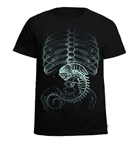 Karnestore Alien vs. Predator Cosplay Baumwolle Schwarzes Kurzarm T-Shirt ()