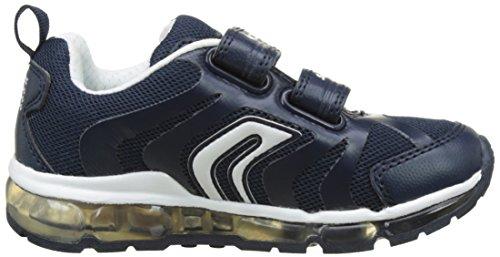 Geox J Android C, Sneakers Basses Garçon Bleu (Navy/whitec4211)