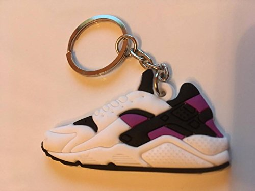 Preisvergleich Produktbild Nike Huarache Sneaker Schlüsselanhänger Keychain Weiß-Lila OG