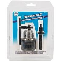"""Silverline 292703 - Portabrocas 13 mm y adaptador SDS Plus Rosca UNF 1/2"""""""