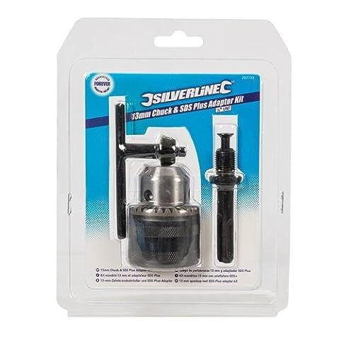 Silverline 292703 Keyed Chuck, Key & SDS Plus Adaptor Kit 3pce 13mm - 1/2