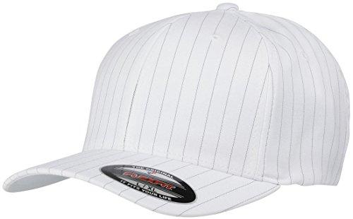 Yupoong Flexfit by Nadelstreifen geschwungenen Peak Hat Erwachsene Mid Profil 6Panel mit Kopfbedeckungen Mid-profile-6-panel -
