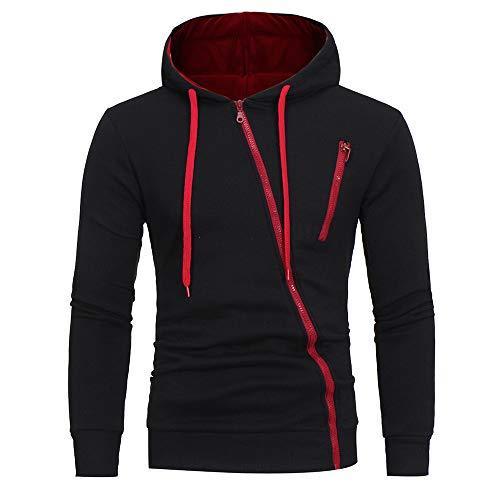 Riou Herren Langarm Hoodie Sweatshirt Slim fit Sweatjacke Kapuzenpullover PulloverT-Shirt Baumwoll...