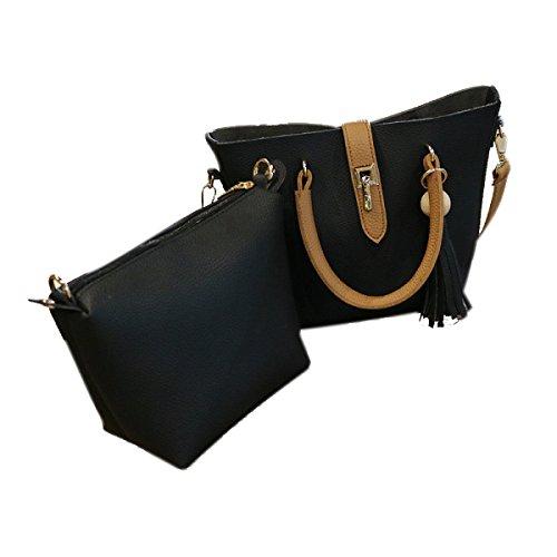 ASDYO Retrò Messenger Bag Spalla Portatile Nuovo Sacchetto Della Signora Immagine Multi-colore Opzionale Black