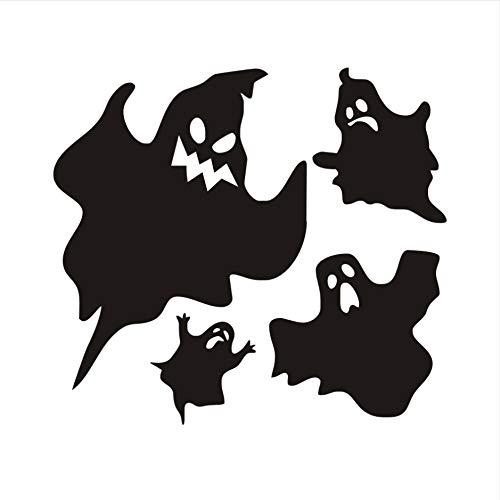 Hallowmas Beliebte Vinyl Removable Black Ghost Wandaufkleber Halloween Dekorationen DIY Wandtattoos Home Decoration Zubehör 44x40 cm