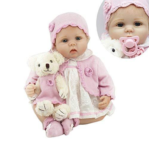 Nicery Reborn Baby Doll Renacer Bebé la Muñeca Vinilo Simulación Silicona Suave 22 pulgadas 55cm Boca Magnética Natural Niña Niño Juguete Boy Girl NPK55C264L