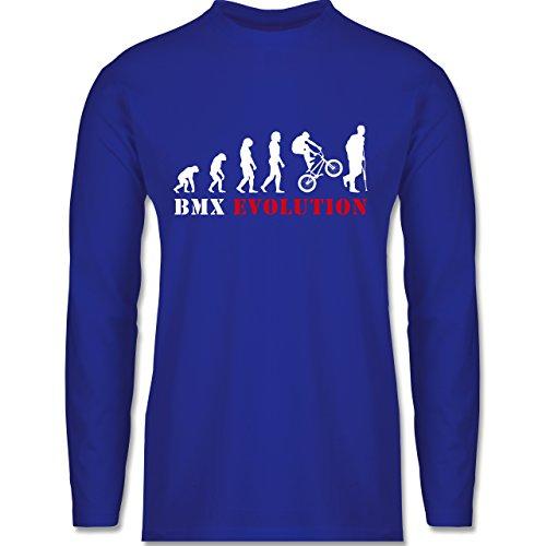 Evolution - BMX Evolution - Longsleeve / langärmeliges T-Shirt für Herren Royalblau