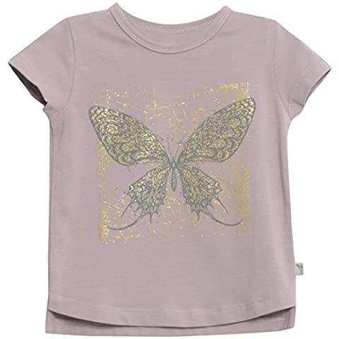 Wheat Filigran Bio-Baumwolle, T-Shirt Bébé Fille, Violett (Dusty Lilac 1239), 9 Mois