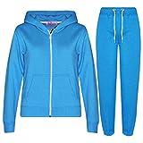 A2Z 4 Kids® Kinder Mädchen Jungen Plain Farbe Trainingsanzug Kapuzenpullover - T.SPlain Blue 2-3
