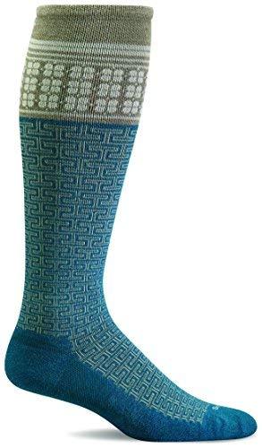 Sockwell Damen T Zeremonie 15-20mmHg Abgestufte Kompression Socken, Damen, blaugrün, Medium/Large -