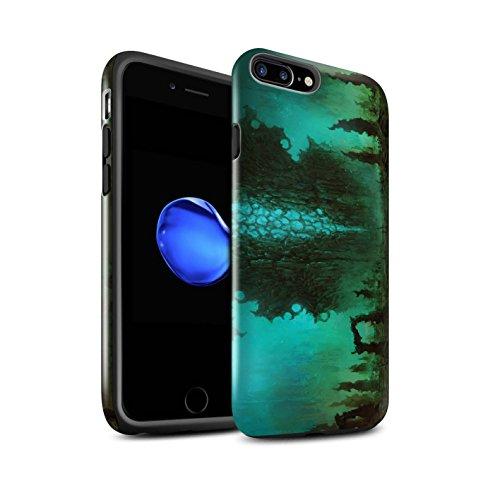 Offiziell Chris Cold Hülle / Glanz Harten Stoßfest Case für Apple iPhone 7 Plus / Raum Mädchen Muster / Fremden Welt Kosmos Kollektion Alien Landschaft