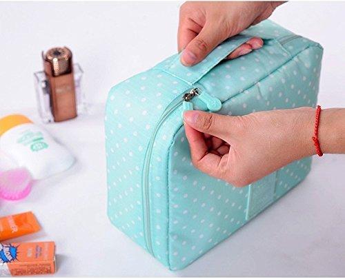 Techsun Nylon Mesh Pocket Makeup Organizer Cosmetic Travel Pouch, Multi