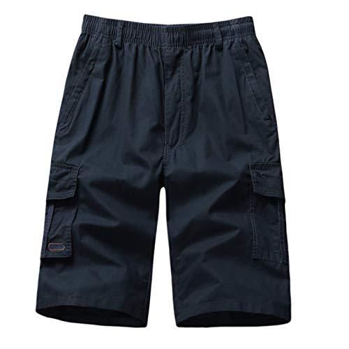 iFRich Herren Cargo Hosen Kurz Freizeithose Chino Slim Stoffhose Arbeit Baumwolle Männer Comfort SweatshortsSporthose Fitness für Laufsport -