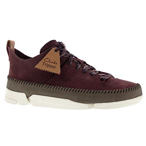 clarks-originals-trigenic-flex-scarpe-da-ginnastica-basse-uomo-viola-burgundy-nubuck-43-eu