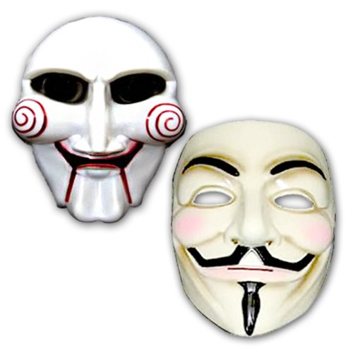 Masken 2er Set 1x Anonymus 1x Jig Saw -