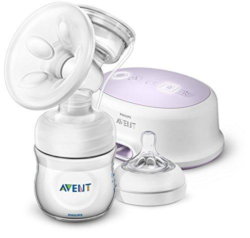 Philips Avent SCF332/31 - Sacaleches, extractor de leche eléctrico silencioso, con cojín masajeado, incluye biberón