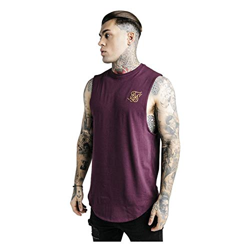 Sik Silk SS-14078 Standard Drop Down Vest - Burgundy Large Burgundy -