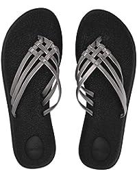67f1bb845 Amazon.co.uk  Silver - Flip Flops   Thongs   Women s Shoes  Shoes   Bags