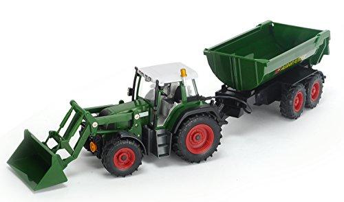 RC Auto kaufen Traktor Bild 2: Dickie Toys 201119266 - RC Farmer Set, funkferngesteuerter Traktor mit Anhänger inklusive Batterien, 60 cm*