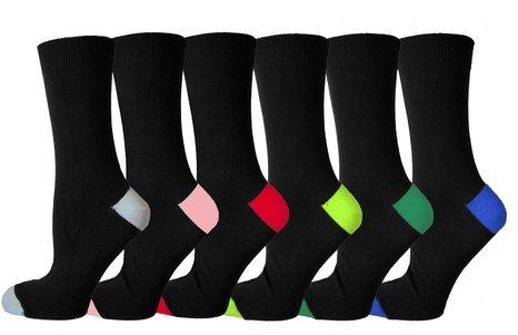 Ayra® - 6 Pairs Trendy Men, Heels & Toes Coloured Socks