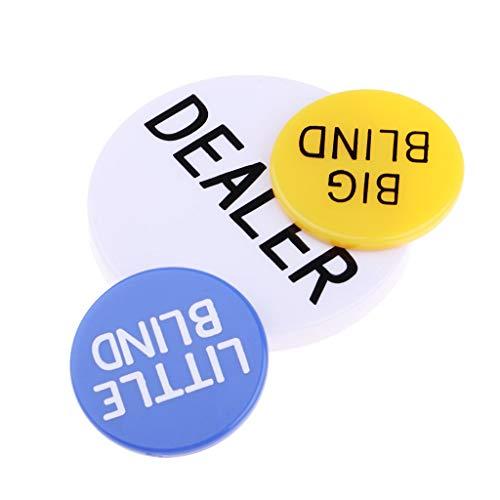 KESOTO Set Von Acryl Pokerbottons Token Kleine große Händler Poker Chips Karten Geschenk Für Poker Liebhaber