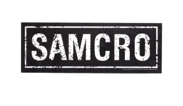 Sons of anarchy samcro sticker amazon in toys games