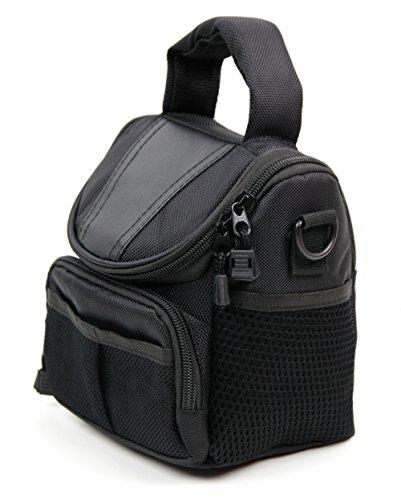 Hasselblad Polaroid (DURAGADGET Praktische Kameratasche (schwarz) mit Tragegriff und Schultergurt - bestens geeignet für den Transport Ihrer Canon EOS M5, Yi M1, Kodak PixPro AZ901 und Polaroid Snap Touch Kamera)