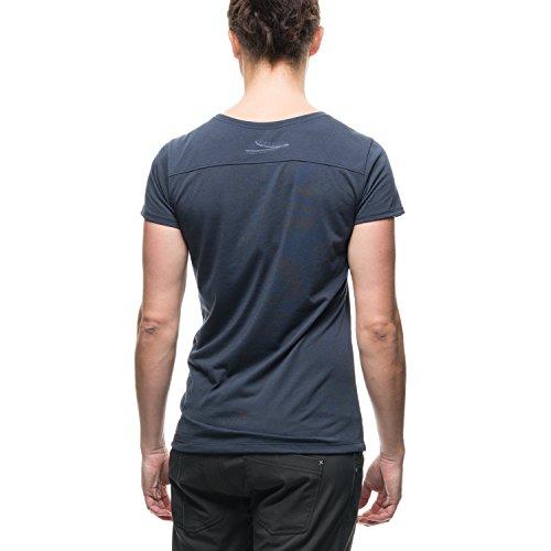 Houdini W's Rocksteady T-shirt pour femme avec message imprimé Kon Blue