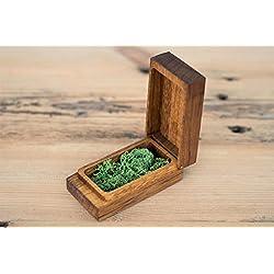 Holz Box, USB-Flash Drive Box Personalisieren Flash Drive Box Geschenk, Hochzeit Box Proof Box für Fotografie, Foto Box Iroko Only box