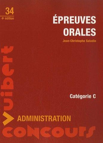 Epreuves orales - Entrainement - Catégorie C