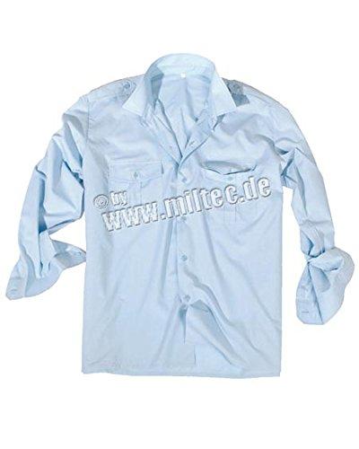 feuerwehrhemd Diensthemd 1/1 Arm T/C hellblau, Größe:XL