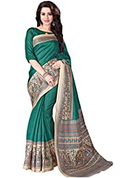 Applecreation Women's Silk Cotton Saree (sarees New Collection 4MDB8724A, Green And Beige)
