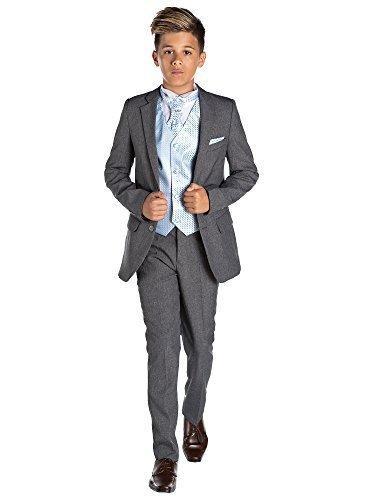 (Paisley of London grauer Anzug für Jungen, Pagenanzug, Festanzug, 12/18Monate–13Jahre Gr. 3 Jahre, Bleu Bébé)