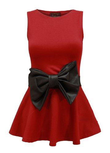Fast fashion supérieure à basque femme armel abgefackelt partie archet Rouge - Rouge