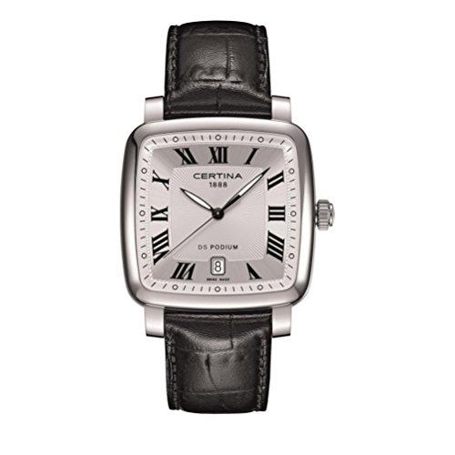 CERTINA DS Podium Herren-Armbanduhr Armband Leder Batterie C025.510.16.033.00