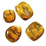 Gems&JewelsHub - Juego de 4 cabujones Sueltos de Piedra Natural de 83,00 CT