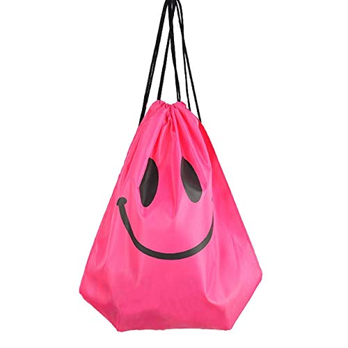 YDFSB Wasserdicht Schwimmen Rucksack Kordelzug Strand Umhängetasche Doppelschicht Sporttasche Outdoor Wassersport Reise Tragbare Taschen China Smile-Rose Rot