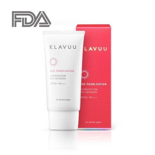 klavuu Prestige rot pearlsation UV-Schutz City defencer Best Sonnenschutz SPF50+ PA + + + Premium Sonnencreme 50ml FDA genehmigt (Hawaiian Baby Kleidung)