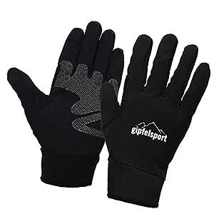 gipfelsport Wanderhandschuhe für Herren und Damen – Touchscreen Handschuhe für Smartphone und Handy I für Joggen, Nordic Walking, Autofahren, Wandern, Fahrrad