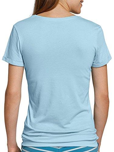 Schiesser Damen Shirt kurzarm 156344 Aqua